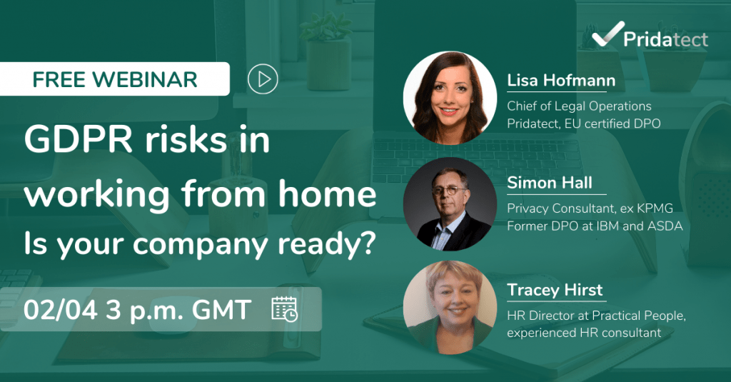 Webinar GDPR risks working from home