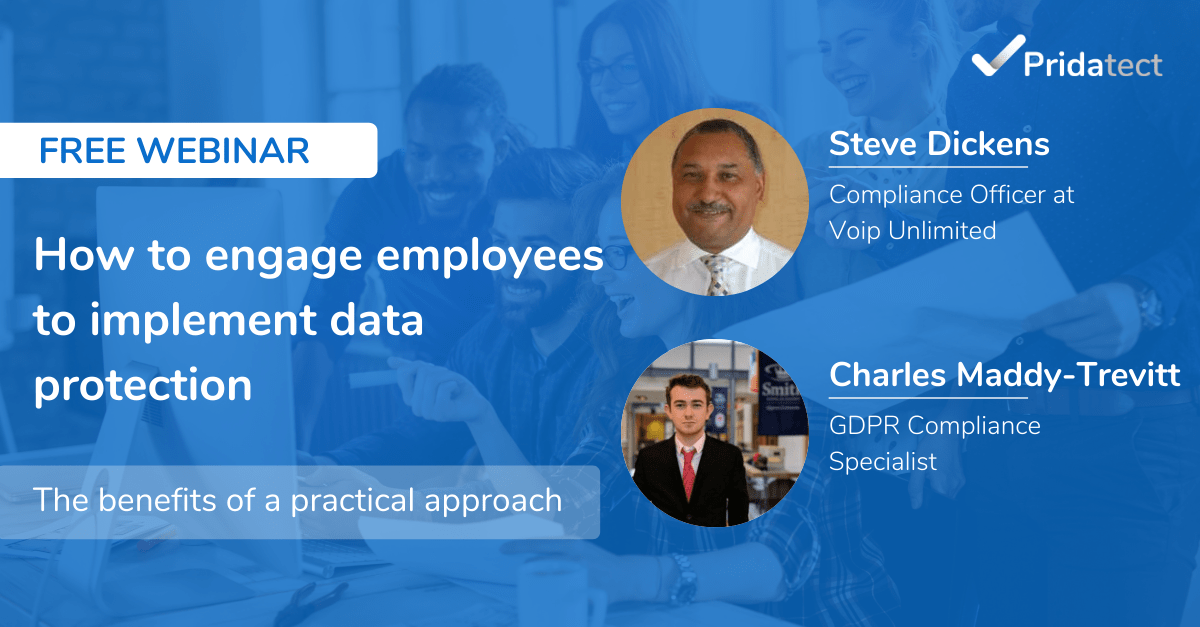 engage employees data protection webinar pridatect